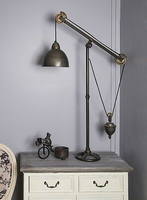 Tripod Industrial Table Lamp Vintage Chic Retro Standing Movie Stage Adjustable
