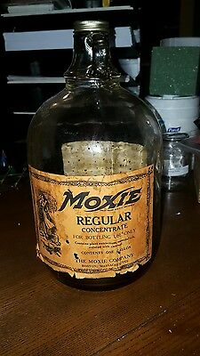 Moxie Soda Fountain Syrup Gallon Paper Label EARLY