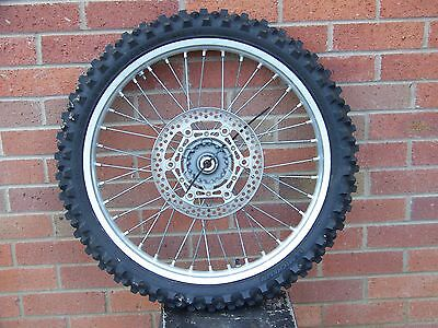 Yamaha YZ125 Front wheel and tyre 2008
