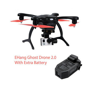 New EHang Ghost Drone 2.0 Including 4K Camera + Extra Smart Battery (Black)