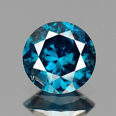 0.42cts 4.9mm Natural Diamond Round Fancy Blue Loose Diamonds Free Shipping