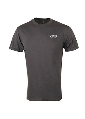 """Audi Collection """"quattro"""" T-Shirt - Charcoal - Makes A Great Gift - 2Xl"""