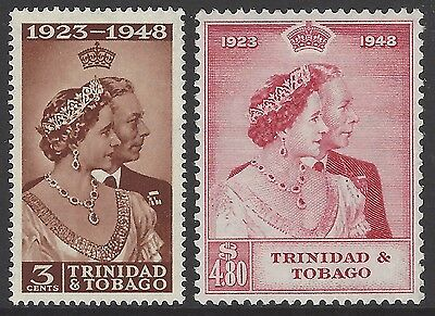 TRINIDAD & TOBAGO 1948 Royal Silver Wedding set of 2, mint MVLH/MNH, SG#259-260