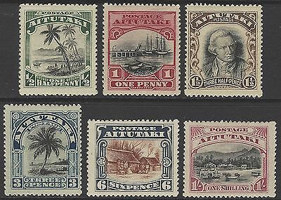 AITUTAKI 1920 set of 6, mint MVLH, SG#24-29