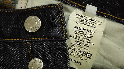 Helmut Lang Italy 1998 Collection Blue W 30 L 41 Button Fly Jeans Denim Pant