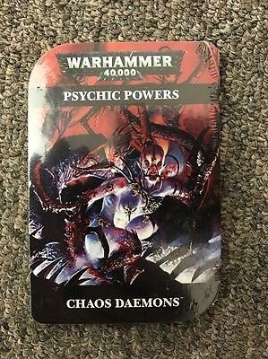Warhammer 40K: Chaos Daemons Psychic Powers cards (97-40-60) *SEALED*