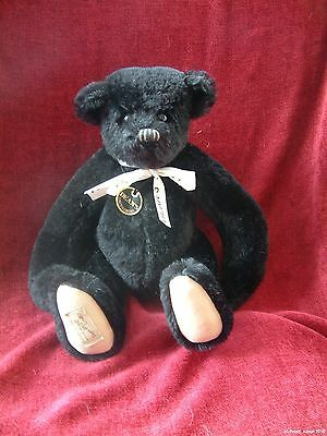 Deans Rag Book Bear DWIGHT 2001 black teddy jointed mohair Ltd ed 12""