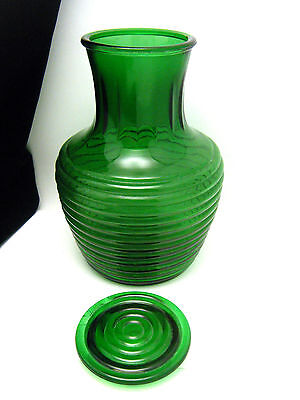 Anchor Hocking Water Bottle Jar Forest Green With Lid