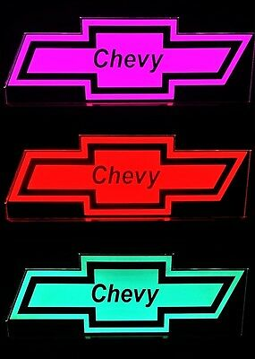 Chevy Logo LED Remote Control Edgelit Sign