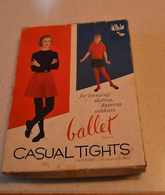 Vintage Ballet Brand Tights Box Vintage Advertising For Lounging Skating Outdoor