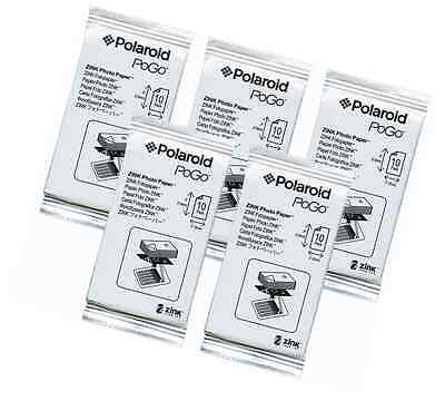 Polaroid Zink media 50 Pack Photo Paper for Polaroid Pogo Cameras and Printers
