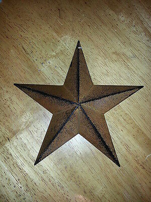 """Lot of 6 Primitive 8"""" Rusty Barn Stars - Decorate, Craft, Country, Rustic, Metal"""