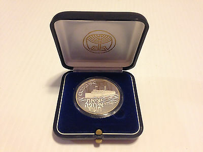 "ISRAEL 1987 SHIP ""EXODUS 1947"" STATE MEDAL STERLING SILVER Round Medallion"