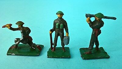 (X) 3 x Vintage UNION OF SOUTH AFRICA Lead Toy Soldiers - British Army