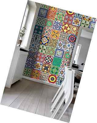 Wall Art Tiles Decor Mexican Talavera Special Stickers (Pack with 48) (6 x 6 inc