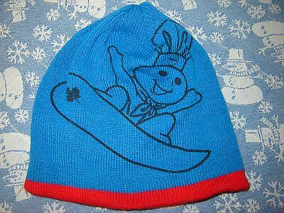 Pillsbury Doughboy Reversible Red Blue Beanie Hat Snowboard Maple Leaf Olympics