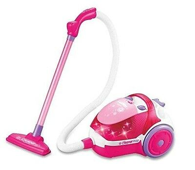 Girls Toy Vacuum Cleaner Hoover Pretend Play Game Pink With Flash Light Music