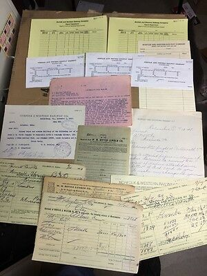 L@@k! Historic Norfolk & Western Rwy Items Dated 1898 To The 1960's. Lot #2 N&W