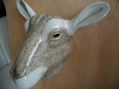 Large Goat Wall Vase/ Plant Pot Glazed Ceramic By Quail Pottery Boxed Ideal Gift