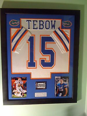 Tim Tebow Framed Jersey Florida Gators National Champs Patch Card Auto Photo