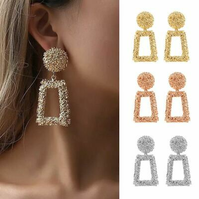 Trendy Punk Jewelry Metal Statement Dangle Drop Earrings Big Gold Geometric UK