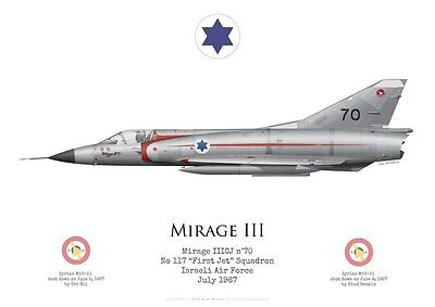 "Print Mirage IIICJ, No 117 ""First Jet"" Squadron, Israeli Air Force (by G. Marie)"