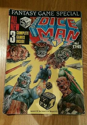 2000ad's DICE MAN - ISSUES 1 - 5 ( 1986 ) comic UK graphic game fighting fantasy
