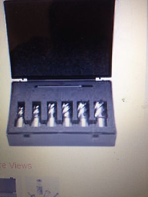 NEW Evolution Mag Drill Cutter Set 6 Piece Magnetic Drill Broaching Cutters