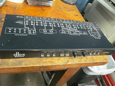 DBX 200X Program route selector untested as is studio recording audio