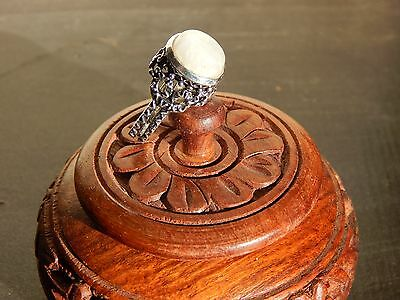 Mystical Psychic Seance Moonstone Ghost Ring w Charging box - Haunted