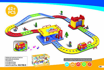 Children's Car Railway Track Toy Set + Car Track & Accessories Build & Play