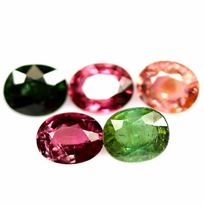 TOP MULTI COLOR TOURMALINE LOT : 6,06 Ct Natürlicher Turmalin aus Nigeria