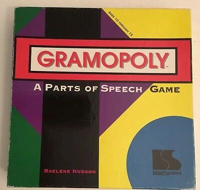 Gramopoly Board Game Grammar Parts Of Speech English Home School Education