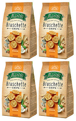4 x BRUSCHETTE MARETTI Oven Baked Bread Bites Mixed Cheese Flavor 70g 2.5oz