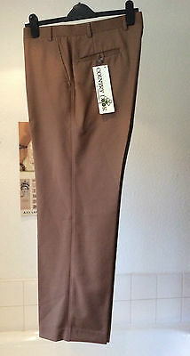 "vintage Honorbilt Country Look ~ pure new wool brown trousers 36"" W X 31"" L New!"