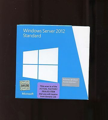 Factory Sealed- P73-05364 Microsoft Windows Server 2012 Standard 10 CAL (Not R2)