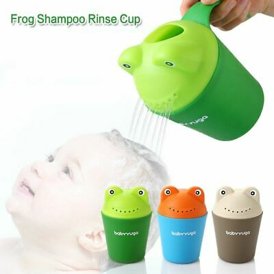 Baby Child Wash Hair Eye Water Scoop Bath Nozzle Shampoo Rinse Cup Blue