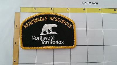 Renewable Resources Northwest Territories Rangers Obsolete Dept Officer Patch
