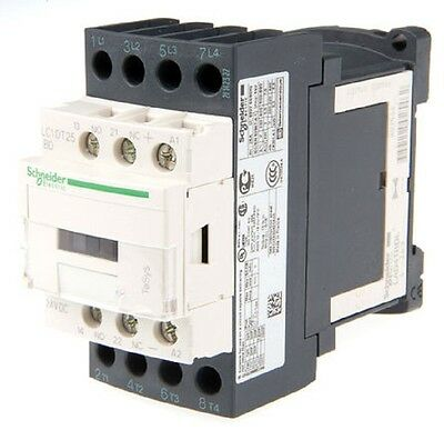 TeSys LC1 4 Pole Contactor, 25 A, 24 V dc Coil