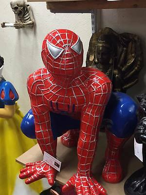 Spiderman figure, statue, ornament, garden, advertising