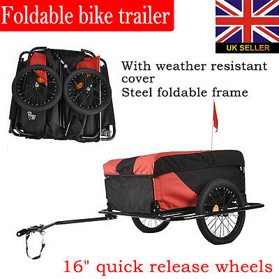 Heavy Duty High Capacity Bike Cargo Trailer With Removable Cargo Cover