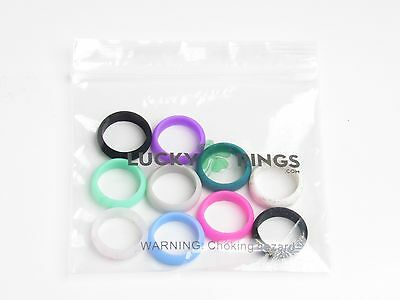 Size 5 - 10 PK Women's Silicone Wedding Bands - Rubber Rings - Engagement Rings!