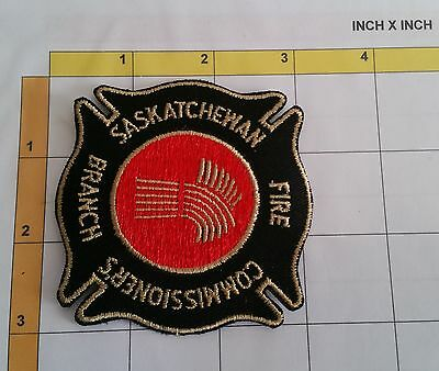 Canada Saskatchewan Fire Firefighter Pompier Incendie Dept Obsolete Patch