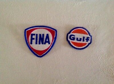 Vintage Gulf Gas Station and Fina Uniform Attendant Patches