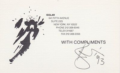 """DAVID BOWIE A Signed """"With Compliments"""" Card"""" EPPERSON COA, Lifetime Guarantee 2"""