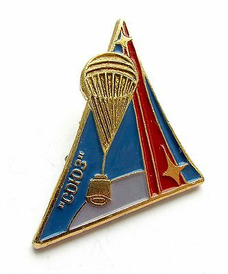 Soviet Union Russian Cosmos space pin badge spaceship Soyuz USSR 932