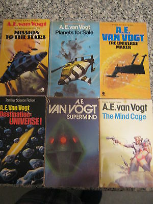 Job Lot - Collection Of 12 Science  Fiction Paperback  Books By A E Van Vogt