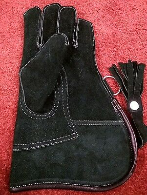 Falconry Glove Double Skinned Suede Leather 12 Inches Long 2 Layers (All Sizes)