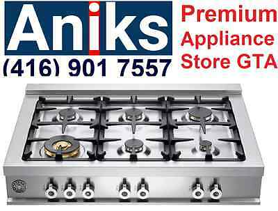 Bertazzoni Professional Series CB36600X 36in Pro-Style Gas Rangetop with 6 Seal