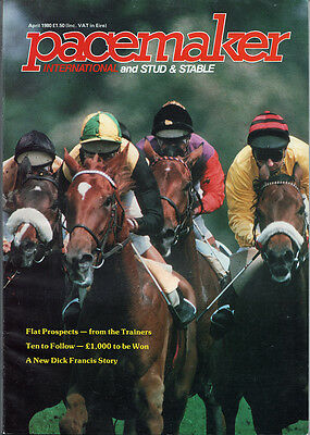 Pacemaker Magazine April 1980 - vintage horse racing publication